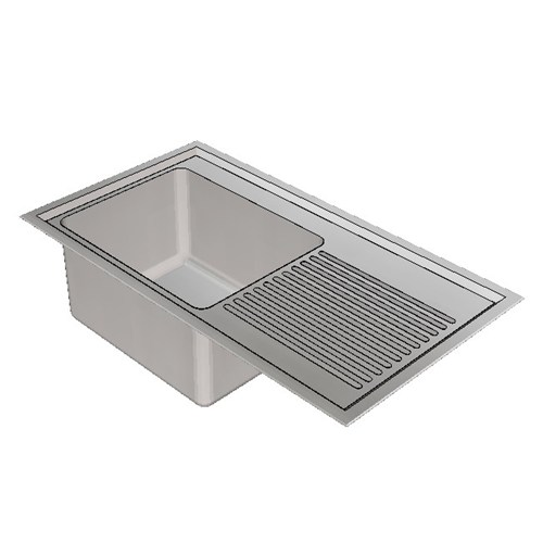 Britex Laboratory Sink Single End Bowl - 900 Left