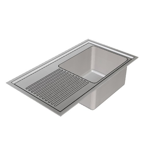 Britex Laboratory Sink Single End Bowl - 900 Right