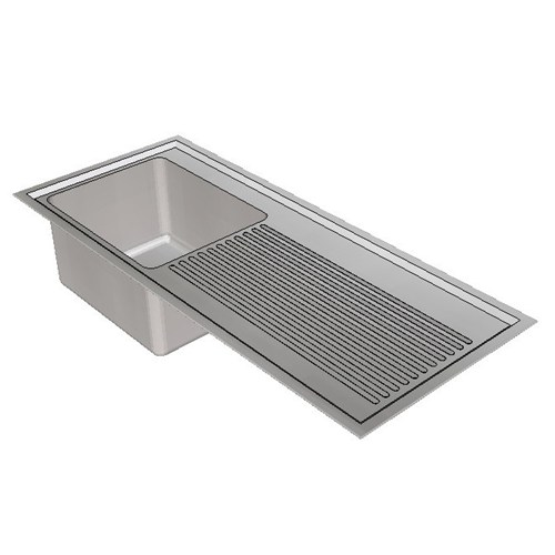 Britex Laboratory Sink Single End Bowl - 1200 Left