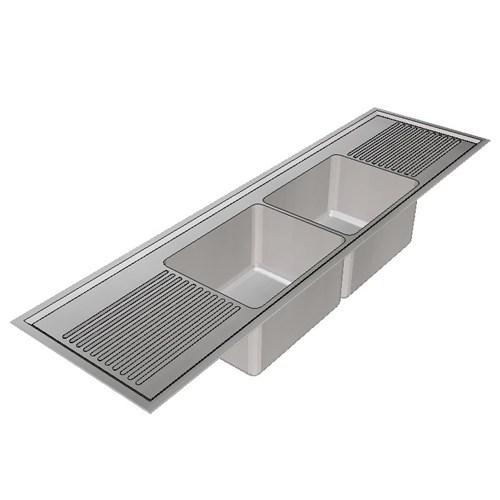 Britex Laboratory Sink Twin Centre Bowl 1800