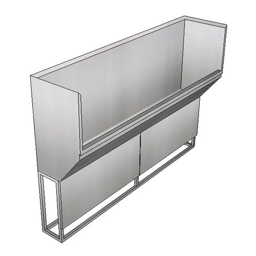 Britex Surgeon's Scrub Trough - Left Drain (Floor Mounted)