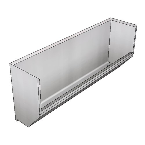 Britex Surgeon's Scrub Trough- Right Drain (Wall Mounted)
