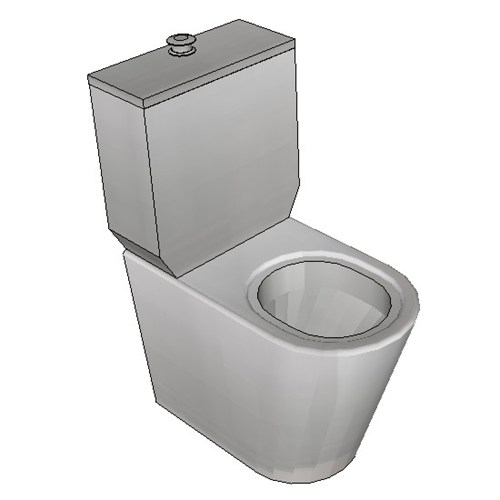 Britex Disabled Toilet Suite (P Trap Grandeur Ambulant Pan)
