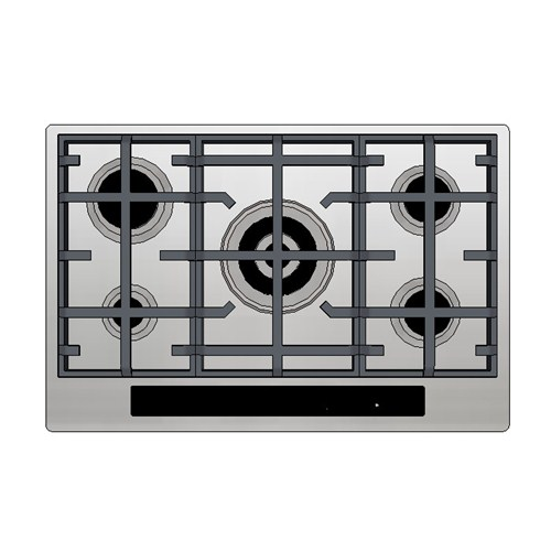Kleenmaid Gas Cooktop 70cm Electronic Touch Panel