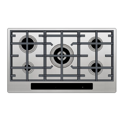 Kleenmaid Gas Cooktop 90cm Electronic Touch Panel