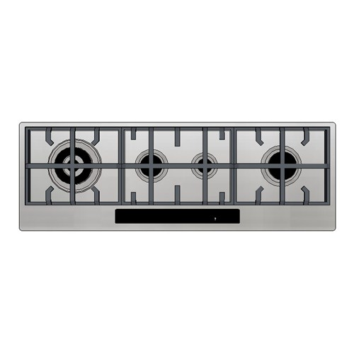 Kleenmaid Gas Cooktop 120cm Electronic Touch Panel