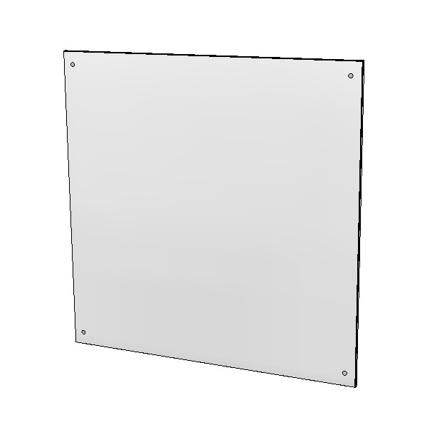 Britex Polished Stainless Steel Mirror (575 x 575)
