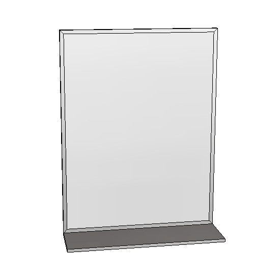 Britex Channel Frame Mirror w/Shelf (460 x 610)