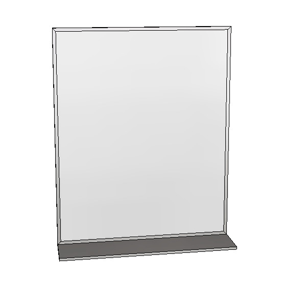Britex Channel Frame Mirror w/Shelf (610 x 760)