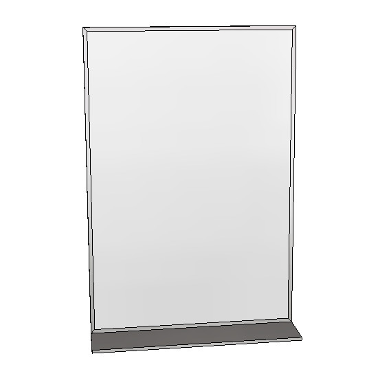 Britex Channel Frame Mirror w/Shelf (610 x 910)