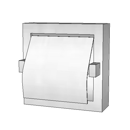 Britex Single Toilet Paper Dispenser (Recessed, Hood, Bright Finish)