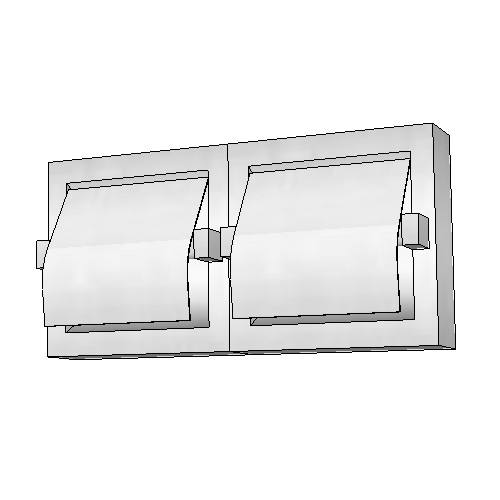 Britex Dual Toilet Paper Dispenser (Recessed, Hood, Bright Finish)