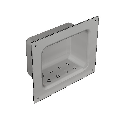 Britex Security Soap Holder (Front Fixed)