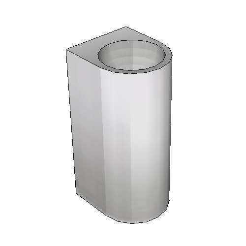 Britex Pedestal Security Basin (Rear Fixed)