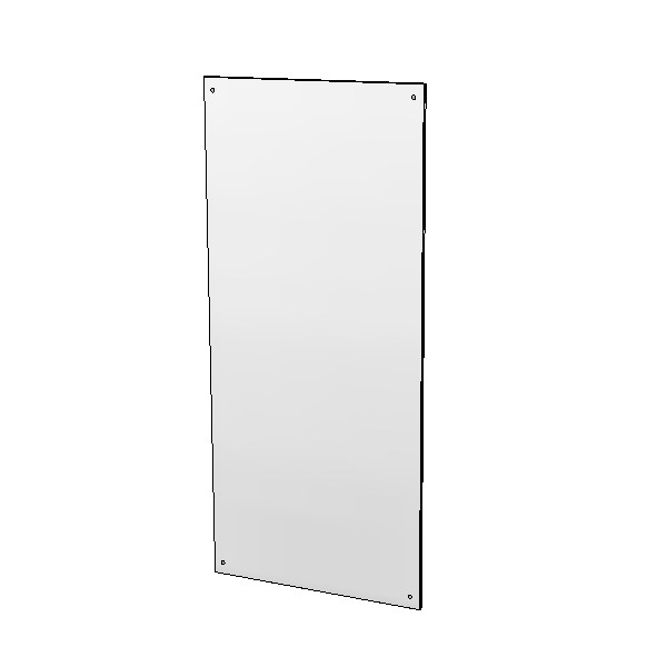 Britex Polished Stainless Steel Mirror (450 x 1000)