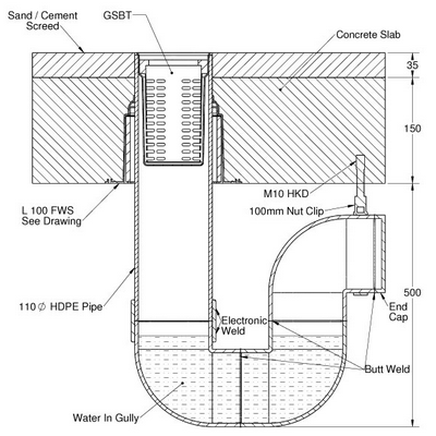 Grate Seal Bucket Trap