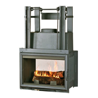 Chazelles Fireplaces CDF800R Double Sided Fireplace