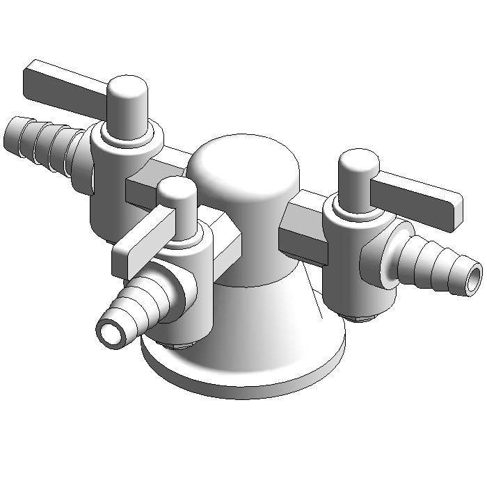 Galvin Lab Gas 3-Way Turret Type 41 (Straight)