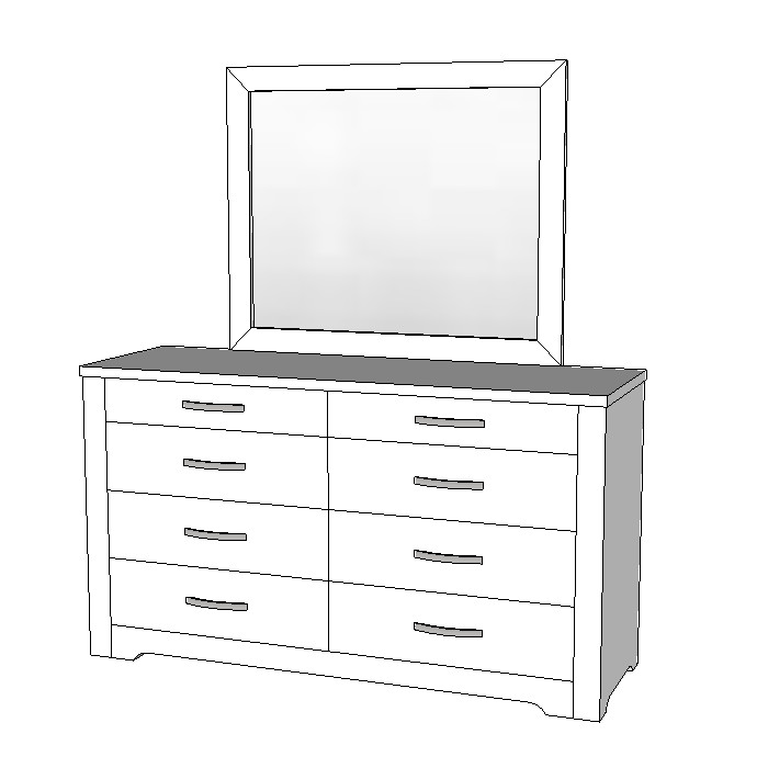 Forty Winks Alexa Dresser 8 Drawer With Mirror