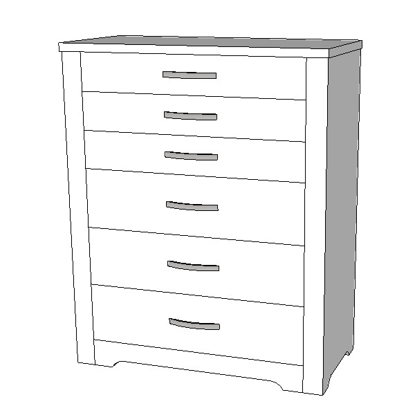 Forty Winks Alexa Tallboy 6 Drawer