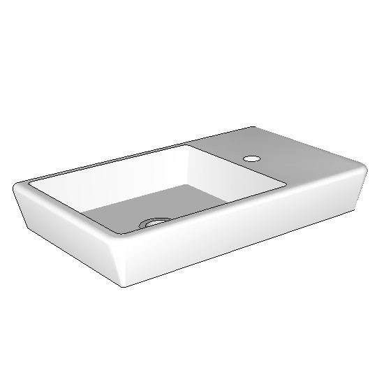 Rogerseller t4 compact wall basin 500mm2