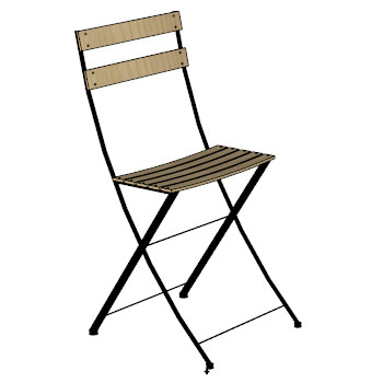 Bistro Folding Chair Natural Skp