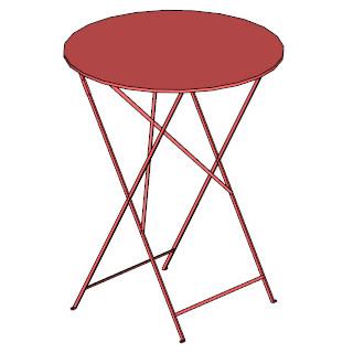 Bistro folding table 60cm round skp
