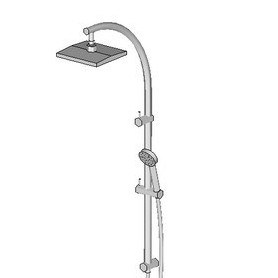 Phoenix Tapware Rush Twin Shower