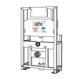 ilife Undercounter 4 Legged Framed Cistern