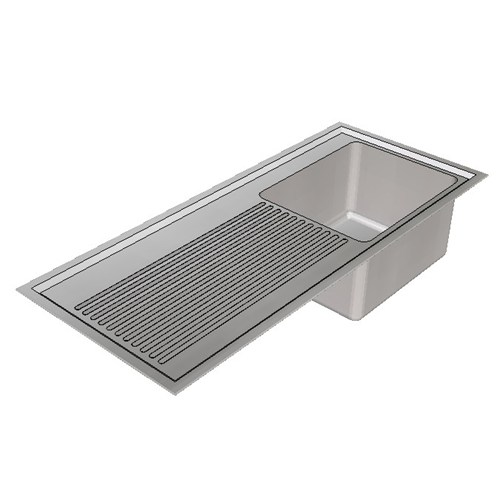 Britex Laboratory Sink Single End Bowl - 1200 Right