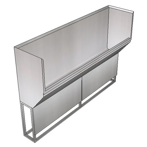Britex Surgeon's Scrub Trough - Right Drain (Floor Mounted)