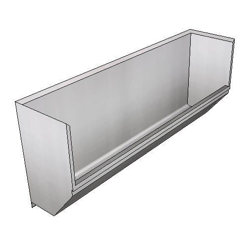 Britex Surgeon's Scrub Trough - Left Drain (Wall Mounted)