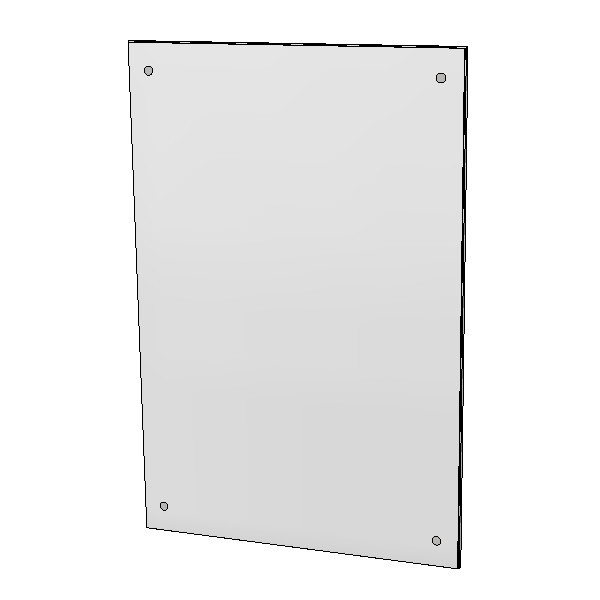 Britex Polished Stainless Steel Mirror (300 x 450)