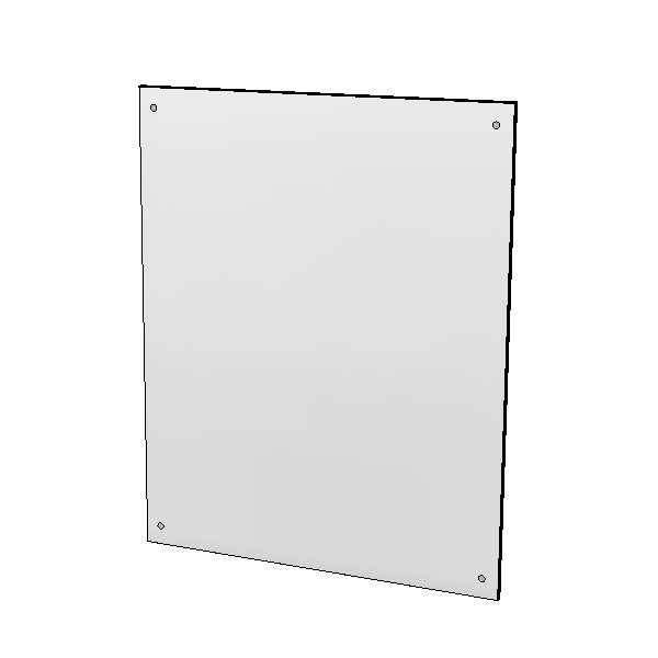 Britex Polished Stainless Steel Mirror (450 x 575)