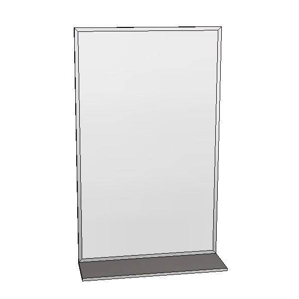 Britex Channel Frame Mirror w/Shelf (460 x 760)