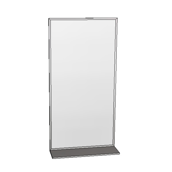 Britex Channel Frame Mirror w/Shelf (460 x 910)