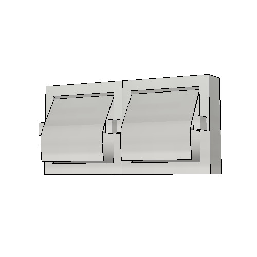 Britex Dual Toilet Paper Dispenser (Recessed, Hood, Satin Finish)