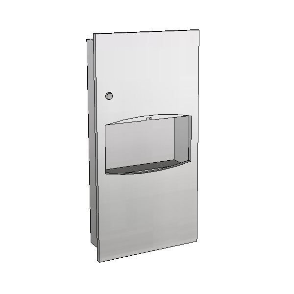 Britex Paper Towel Dispenser & Waste (Recessed)