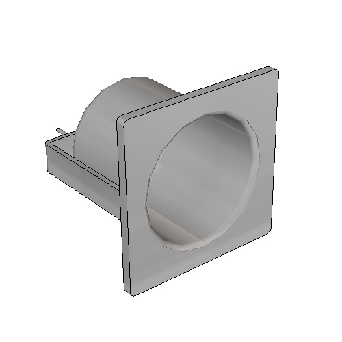 Britex Security Toilet Roll Holder (Rear Fixed)