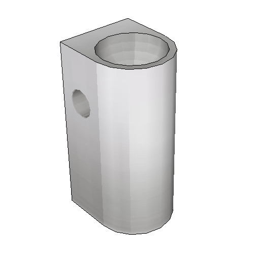 Britex Pedestal Security Basin (Rear Fixed) (Toilet Roll Holder)