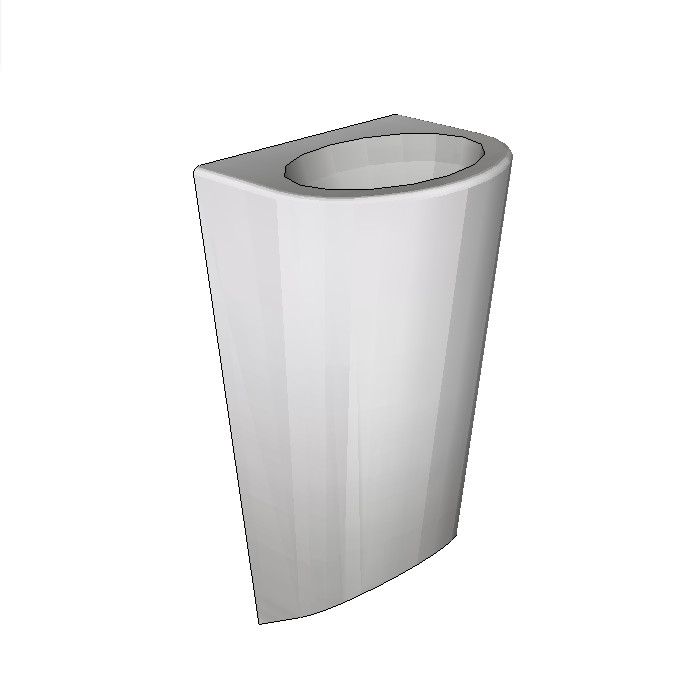 Britex Oval Security Basin (Front Fixed)