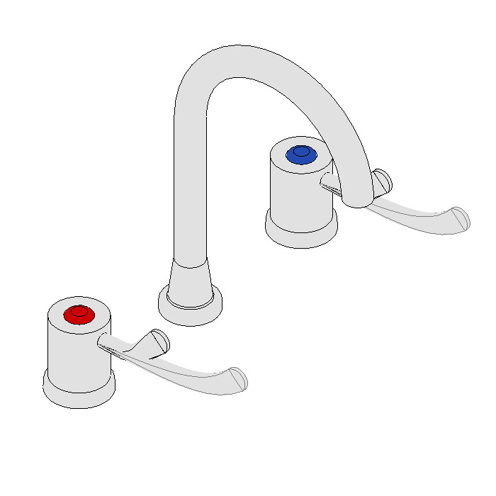 Galvin CliniLever Sink Set (80mm Lever Jumper Valve)