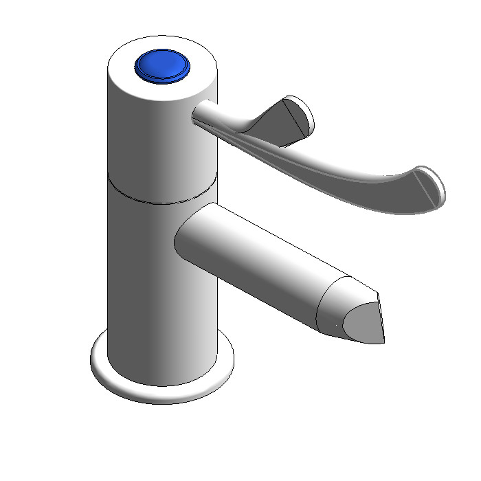 Galvin CliniLever Pillar Tap (80mm Lever Jumper Valve)