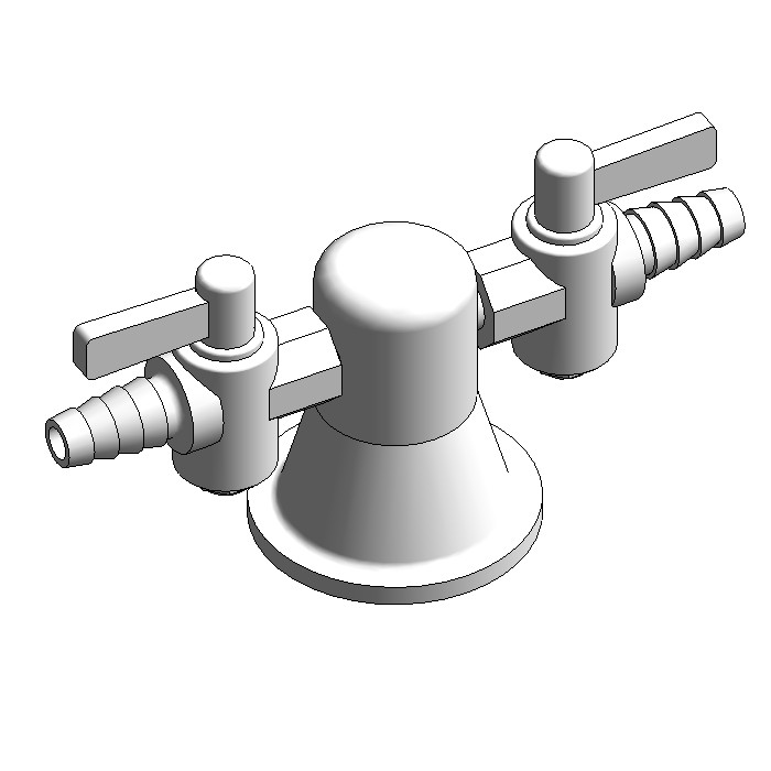 Galvin Lab Gas 2-Way Turret Type 39 - 180° (Right Angle)