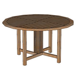 Durban round table 140cm skp