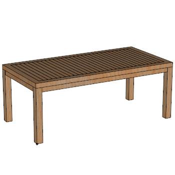 Hampton dining table 200x100 skp