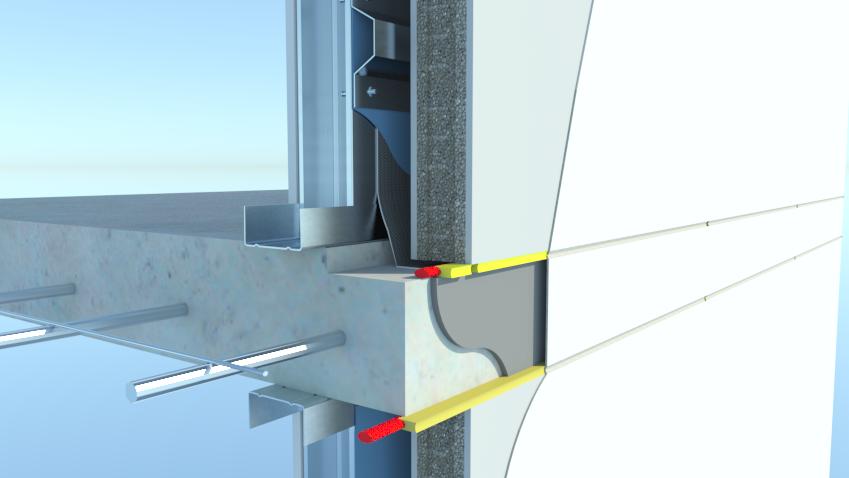 Prontopanel 3d commercial slab details skp8 3d section detail